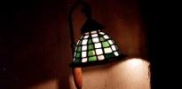 lamp. tavolo quadrati verde rosa