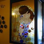 Il bacio Klimt – Vetrata