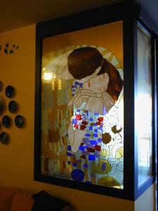 Il bacio Klimt - Vetrata